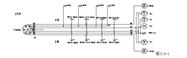 下图为半挂车电路系统原理图