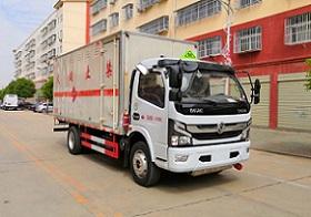 乐投国际米兰俱乐部东风6.755吨易燃气体厢式运输车