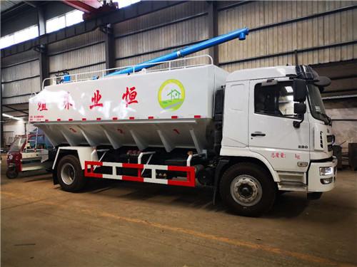 恒业养殖订购陕汽20方散装饲料运输车已完工,准备发车
