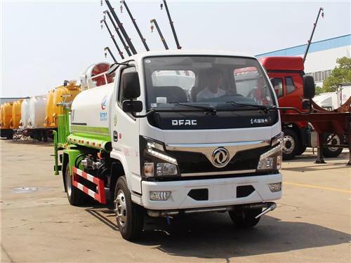 国六东风小多利卡抑尘洒水车(圆罐-30米-CLW5070GPSD6型)