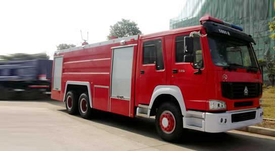 重汽豪沃双桥消防车12-15吨