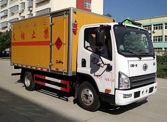 国五解放厢长4.1米易燃液体厢式运输车