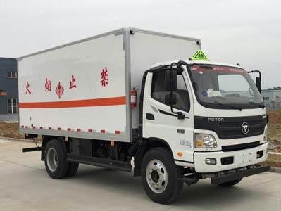 国五欧马可厢长5.1易燃固体厢式运输车