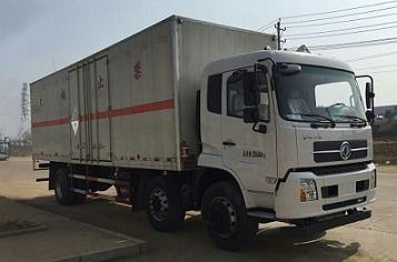 国五东风天锦小三轴厢长8.6米杂项危险物品厢式运输车