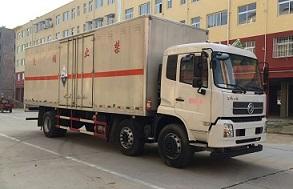 国五东风天锦小三轴厢长8.6米腐蚀性物品厢式运输车